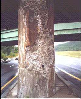 Badly Weathered Concrete Column